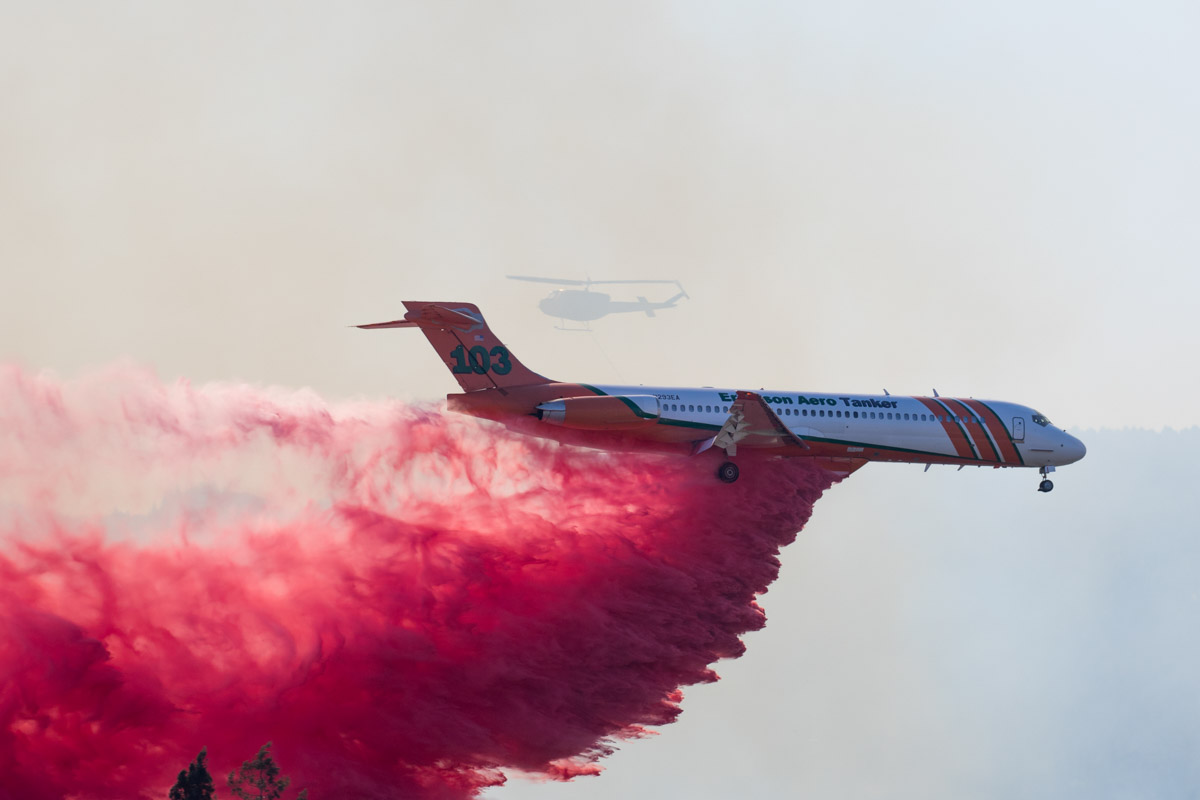 Tanker 103 drops fire Medford Oregon