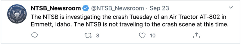 NTSB SEAT crash