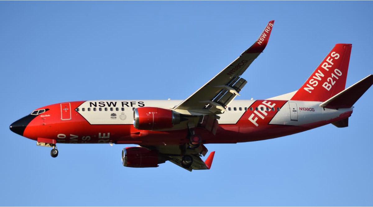 NSW RFS' B-210 737 air tanker