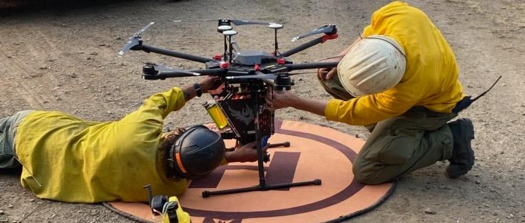 drone wildland fire