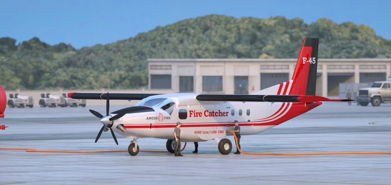 Firecatcher F-45 air tanker