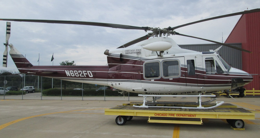 Bell 412EP helicopter, Chicago Fire Department. N682FD