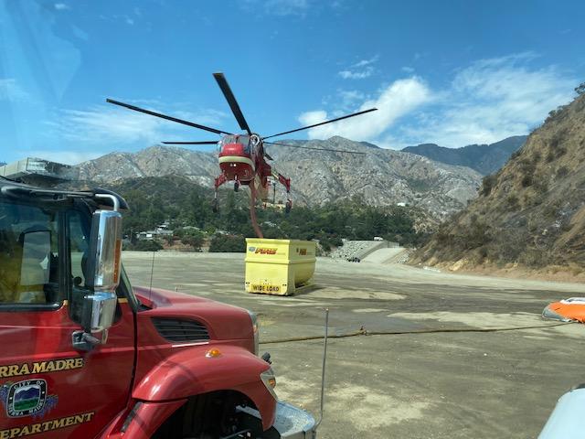 Heli Troff Air-Crane refilling