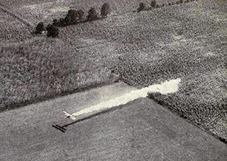 first crop dusting experiment