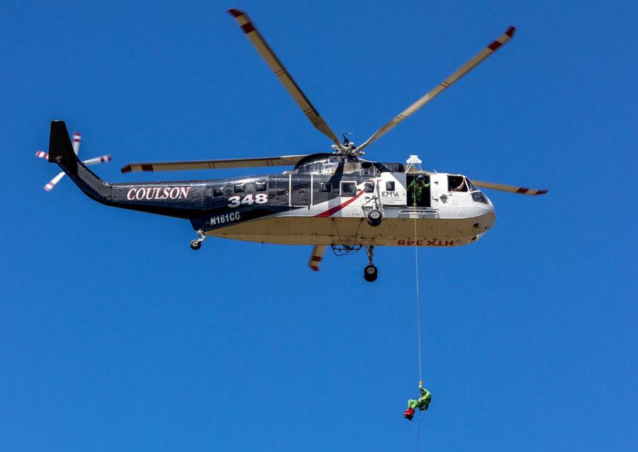 Firefighters Victoria, Australia rappel training