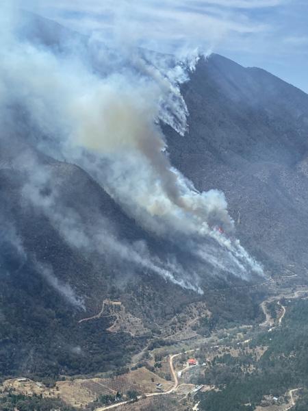 Fire SW of Monterrey in Coahuila, Mexico