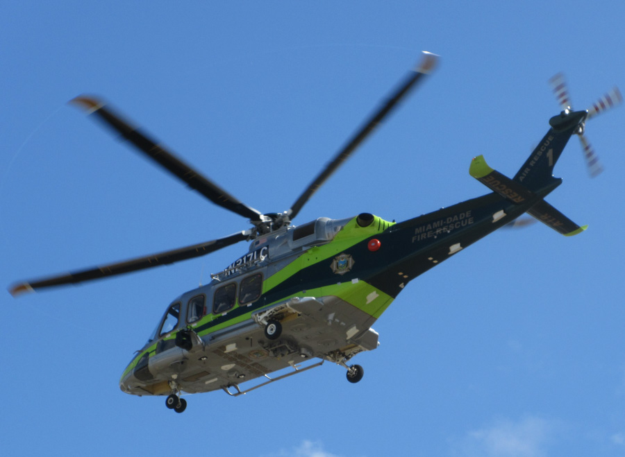 Miami-Dade Fire Rescue's Helicopter #1, an AW139, N217LC