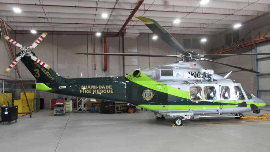 Miami-Dade Fire Rescue's Helicopter #3, N208LC