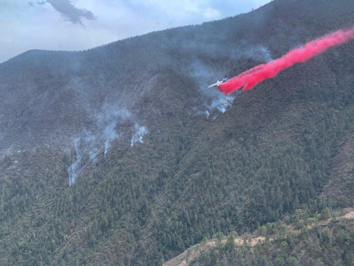 T-912 on a fire southwest of Monterrey, Mexico air tanker wildfire