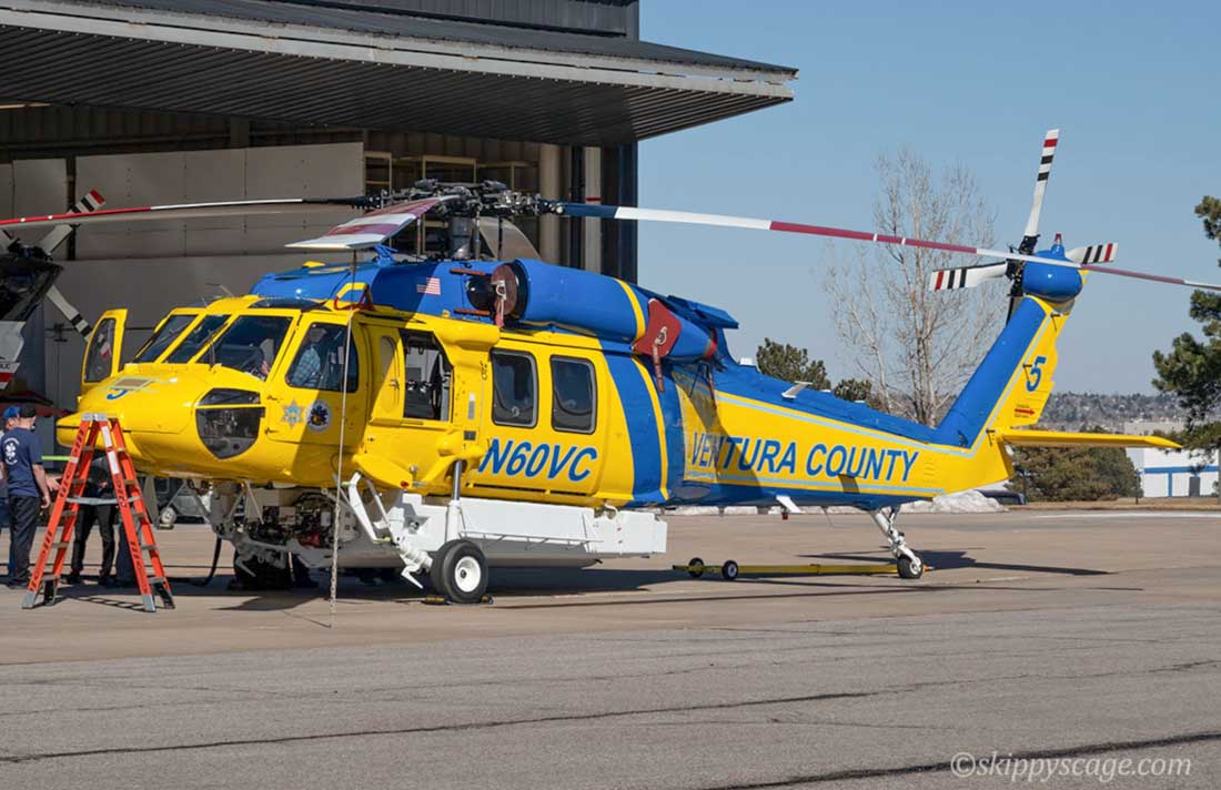 Ventura County helicopter Firehawk N60VC