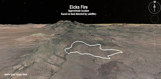 3D Map of Eicks Fire