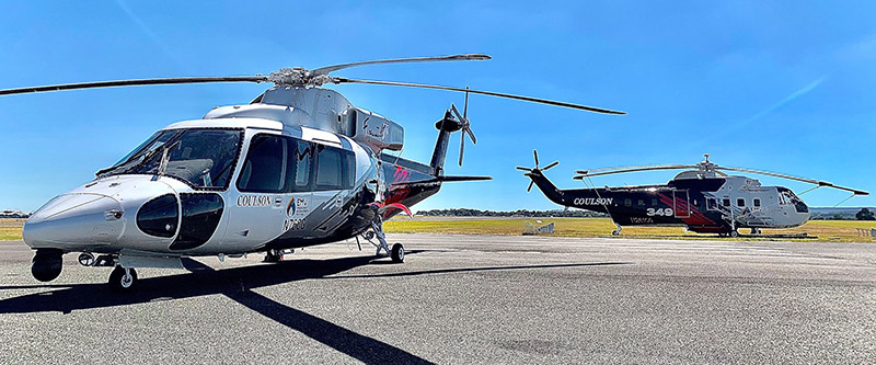Coulson S-76 and S-61 helicopter