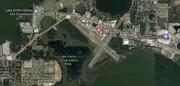 Leesburg Airport map