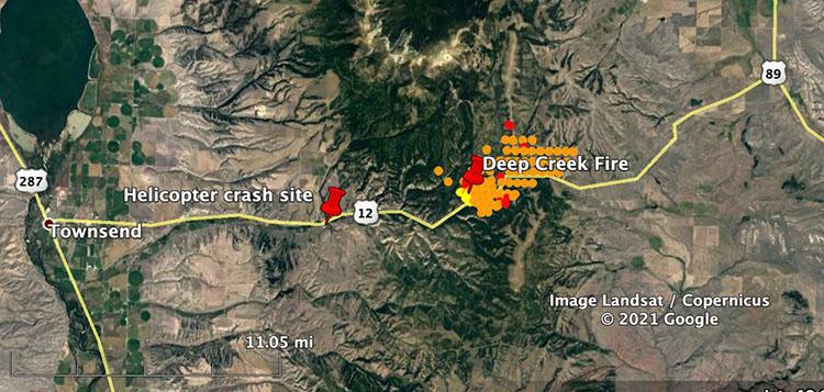 Helicopter crash site montana