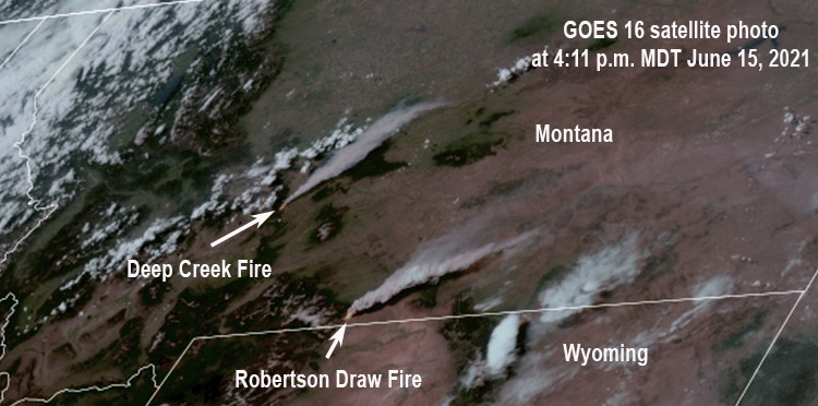 Deep Creek and Robertson Draw Fires