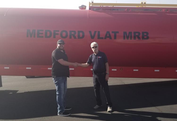 New transportable retardant tank at  Medford, OR