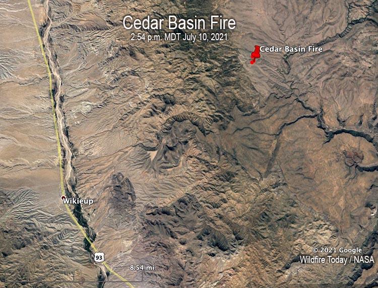 Map Cedar Basin Fire