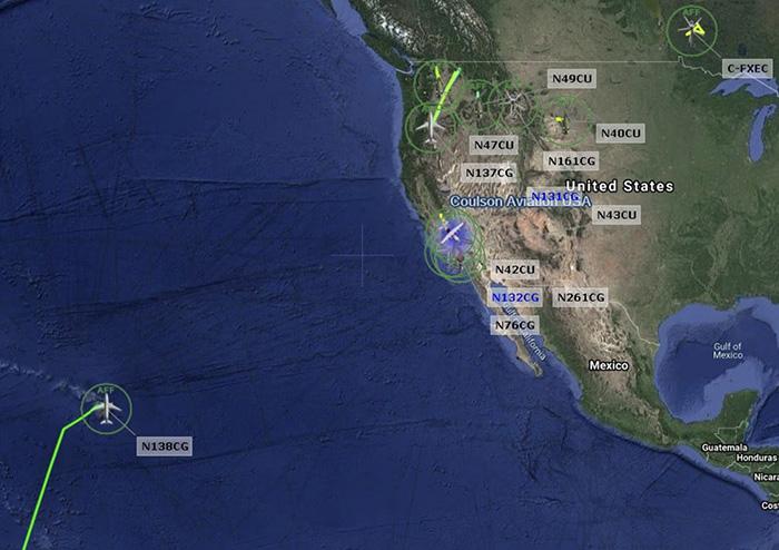 N138CG en route to US
