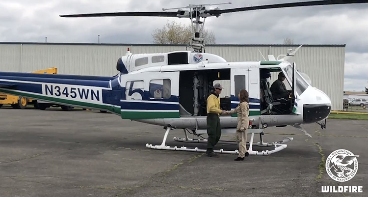 Washington State DNR UH-1H helicopter