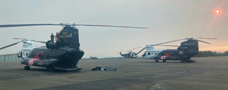 Quick Reaction Force of helicopters fire Caldor